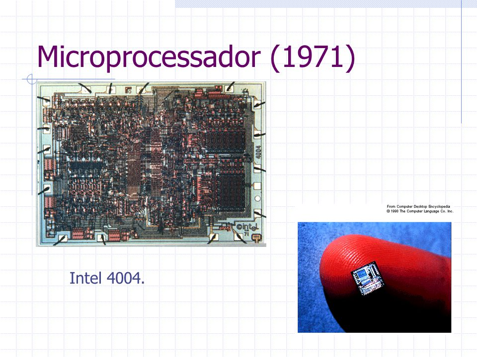 Microprocessador (1971) Intel 4004.