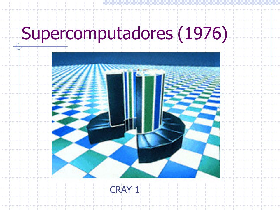 Supercomputadores (1976) CRAY 1