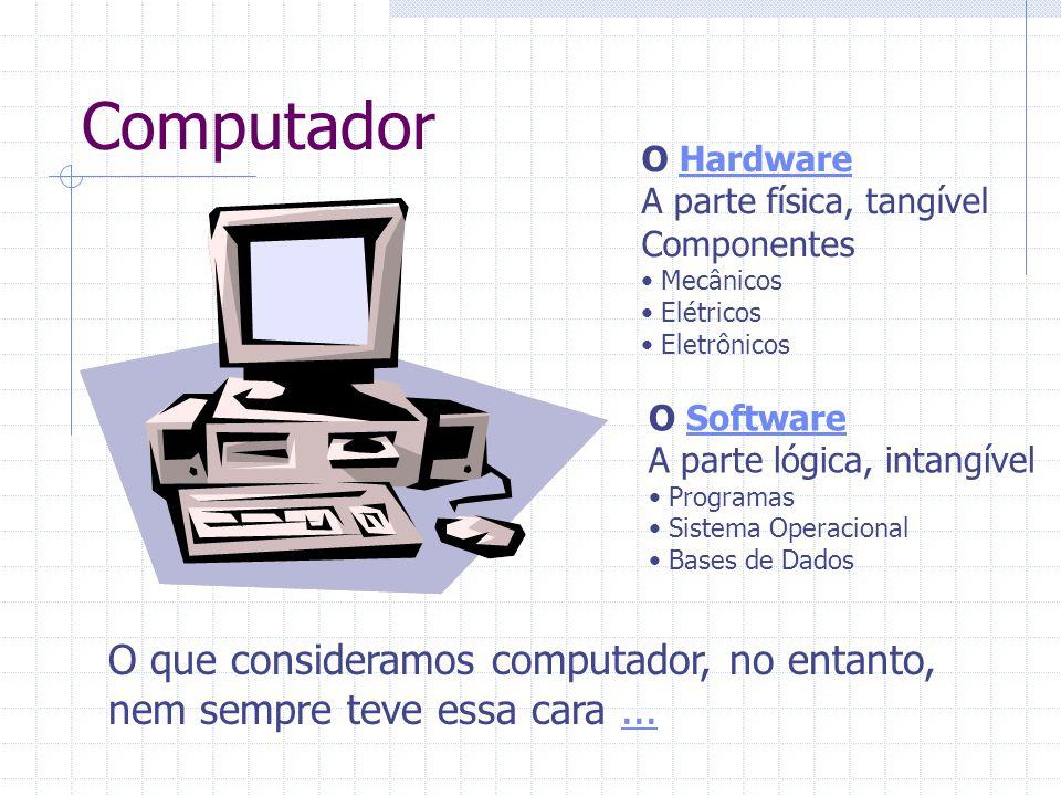 Computador O que consideramos computador, no entanto,