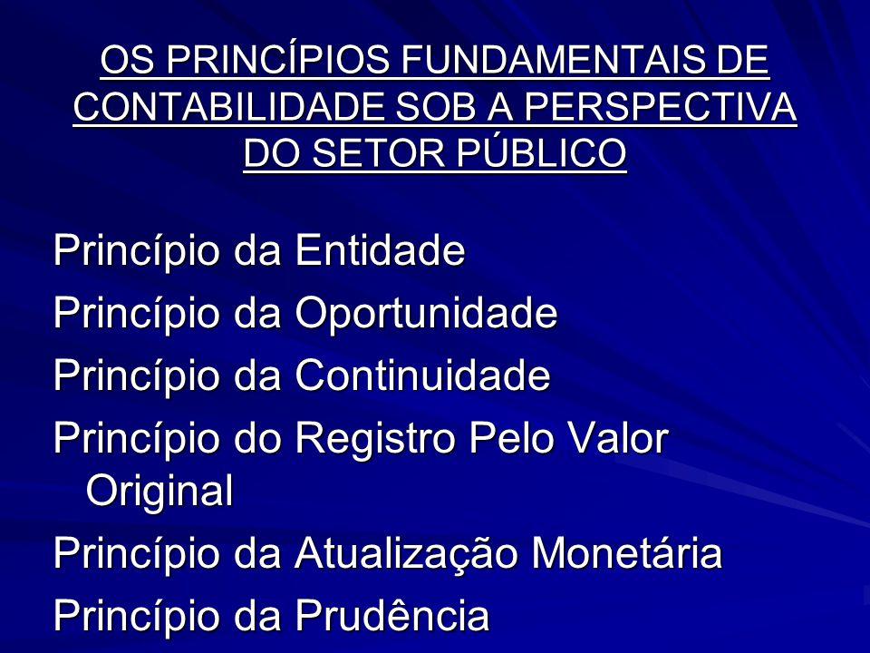 OS PRINCÍPIOS FUNDAMENTAIS DE CONTABILIDADE SOB A PERSPECTIVA DO SETOR PÚBLICO