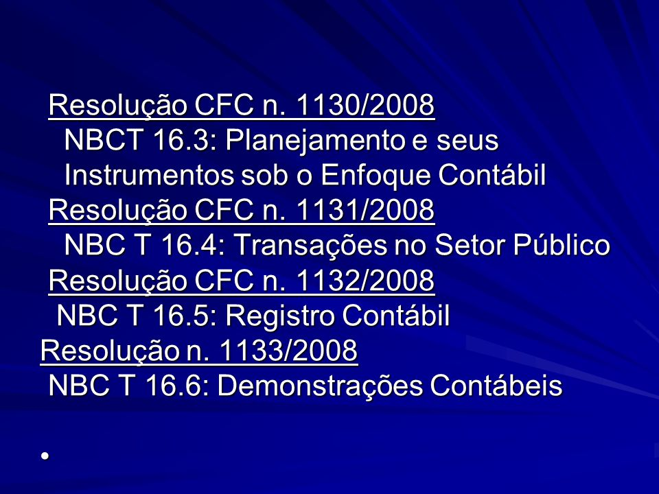 Resolução CFC n.