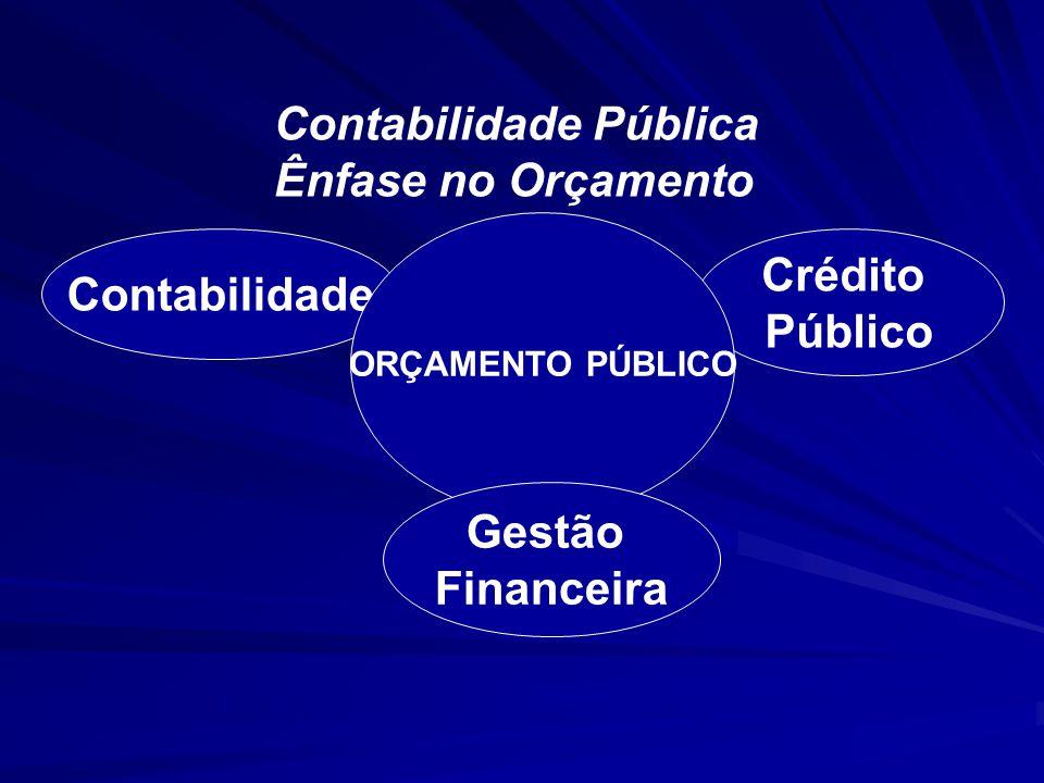 Contabilidade Crédito Público Gestão Financeira