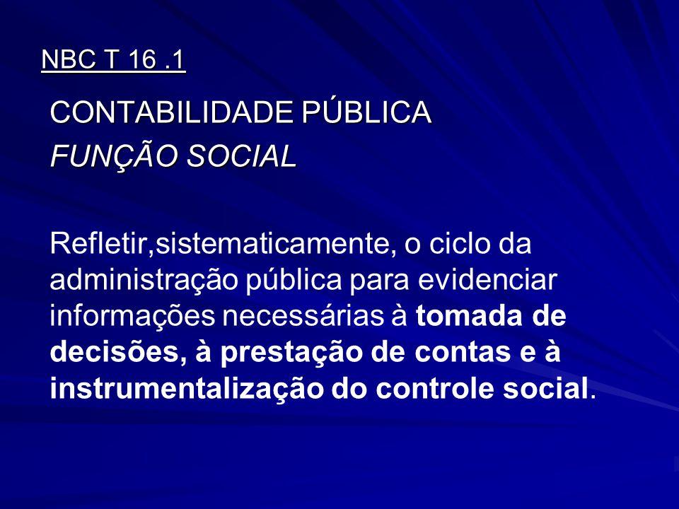 CONTABILIDADE PÚBLICA FUNÇÃO SOCIAL
