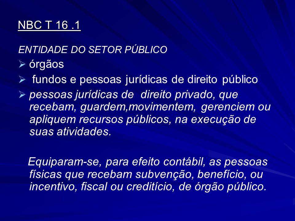 fundos e pessoas jurídicas de direito público