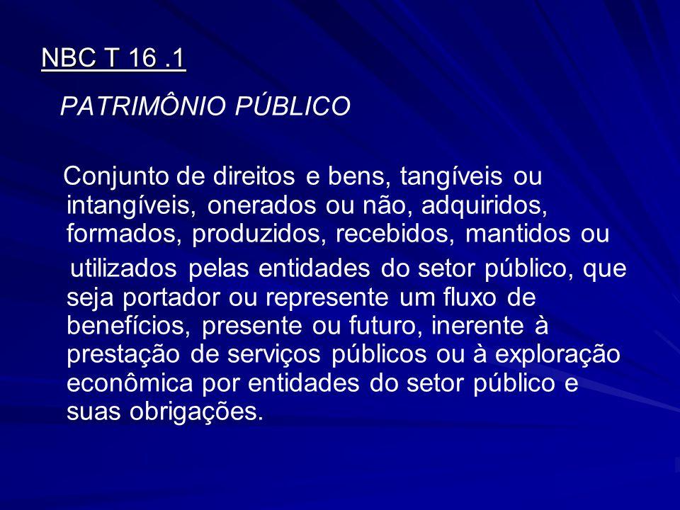 NBC T 16 .1 PATRIMÔNIO PÚBLICO.