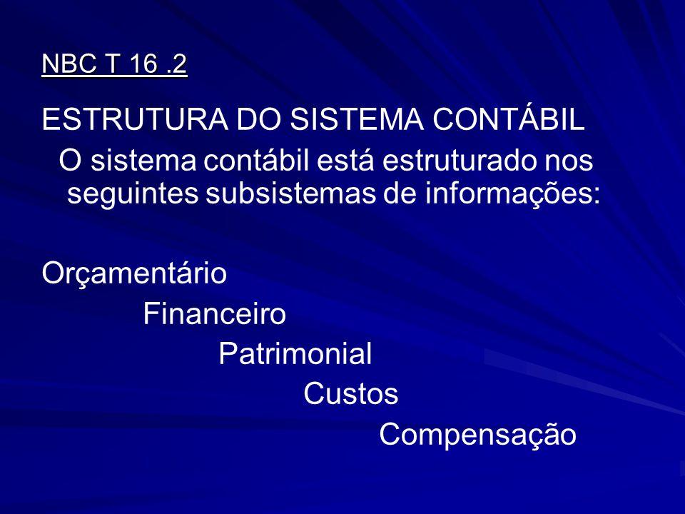 ESTRUTURA DO SISTEMA CONTÁBIL