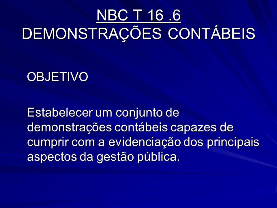 NBC T 16 .6 DEMONSTRAÇÕES CONTÁBEIS