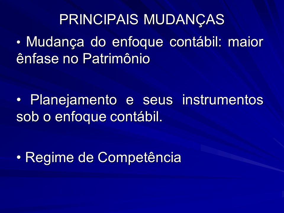 • Planejamento e seus instrumentos sob o enfoque contábil.