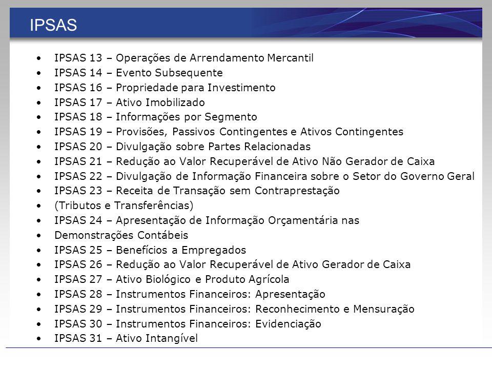 IPSAS IPSAS 13 – Operações de Arrendamento Mercantil