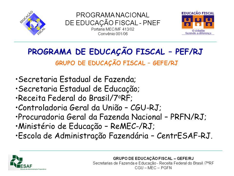 PROGRAMA DE EDUCAÇÃO FISCAL – PEF/RJ