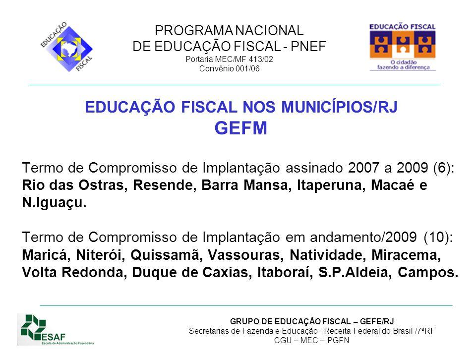 EDUCAÇÃO FISCAL NOS MUNICÍPIOS/RJ