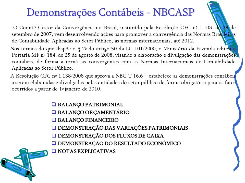 Demonstrações Contábeis - NBCASP