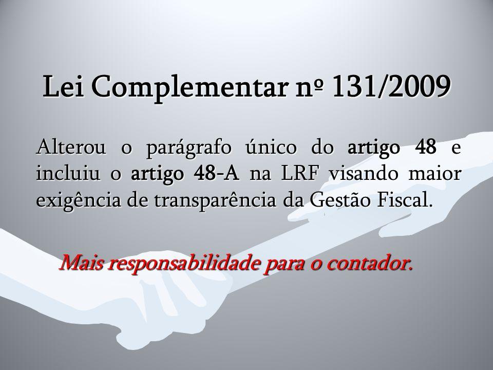 Lei Complementar nº 131/2009