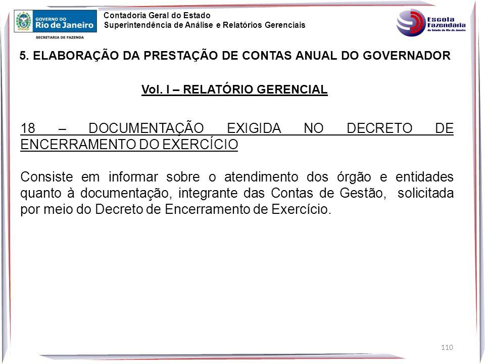 18 – DOCUMENTAÇÃO EXIGIDA NO DECRETO DE ENCERRAMENTO DO EXERCÍCIO