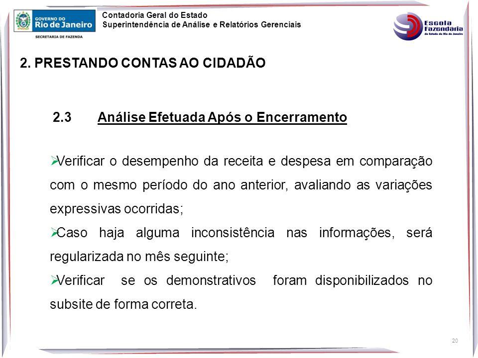 2. PRESTANDO CONTAS AO CIDADÃO
