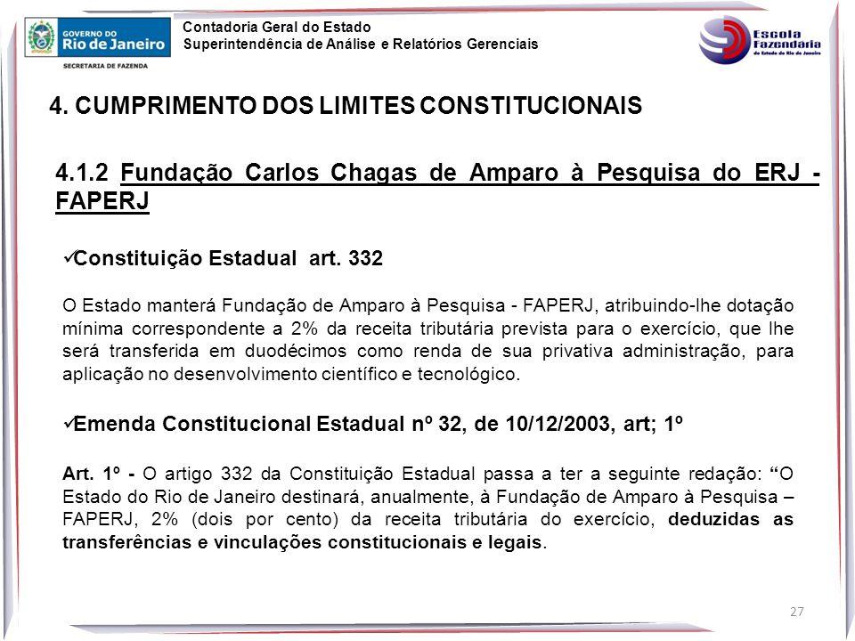 4. CUMPRIMENTO DOS LIMITES CONSTITUCIONAIS