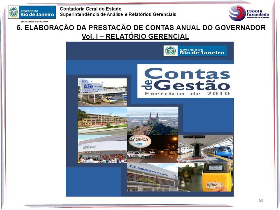 5. ELABORAÇÃO DA PRESTAÇÃO DE CONTAS ANUAL DO GOVERNADOR