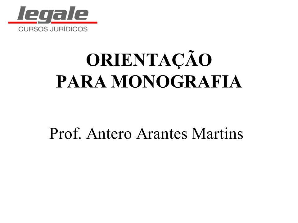 ORIENTAÇÃO PARA MONOGRAFIA