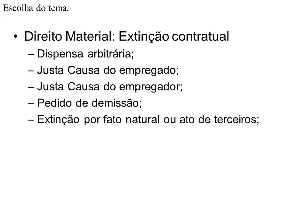 Direito Material: Extinção contratual