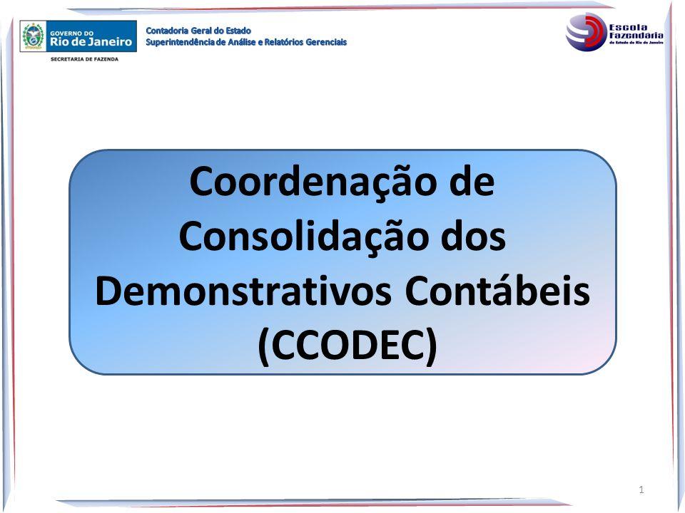 Coordenação de Consolidação dos Demonstrativos Contábeis