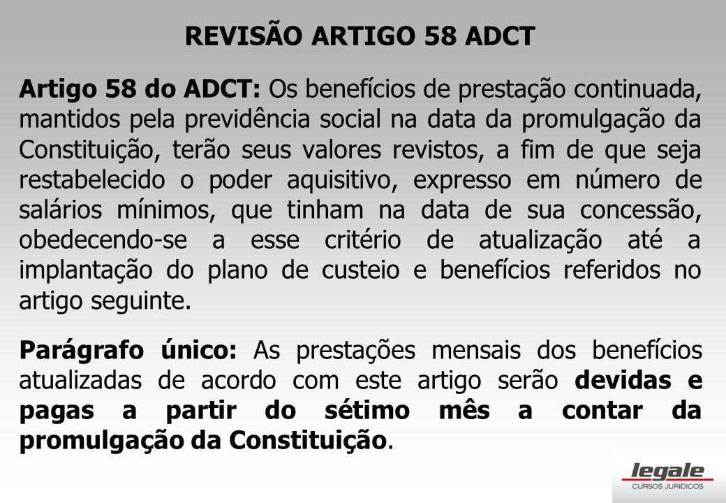REVISÃO ARTIGO 58 ADCT