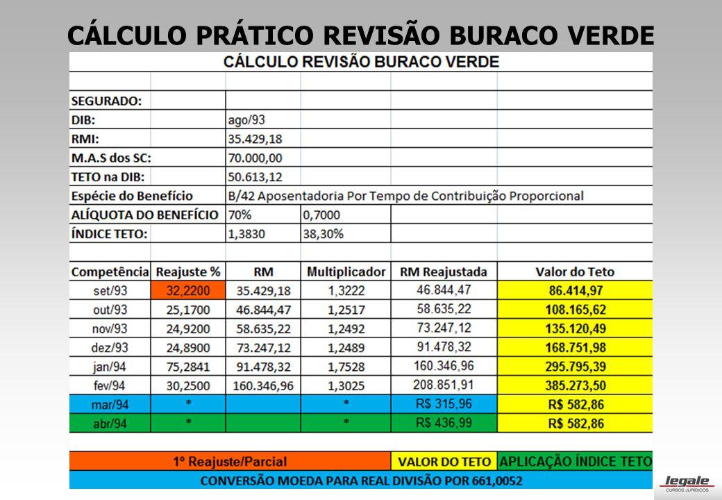 CÁLCULO PRÁTICO REVISÃO BURACO VERDE