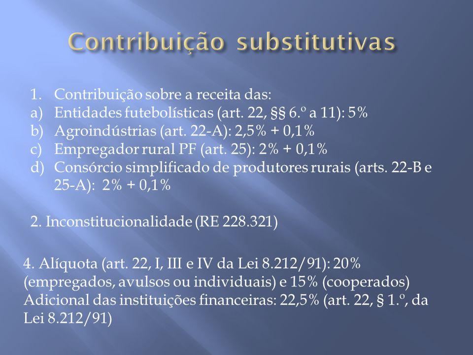 Contribuição substitutivas