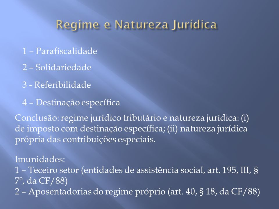 Regime e Natureza Jurídica