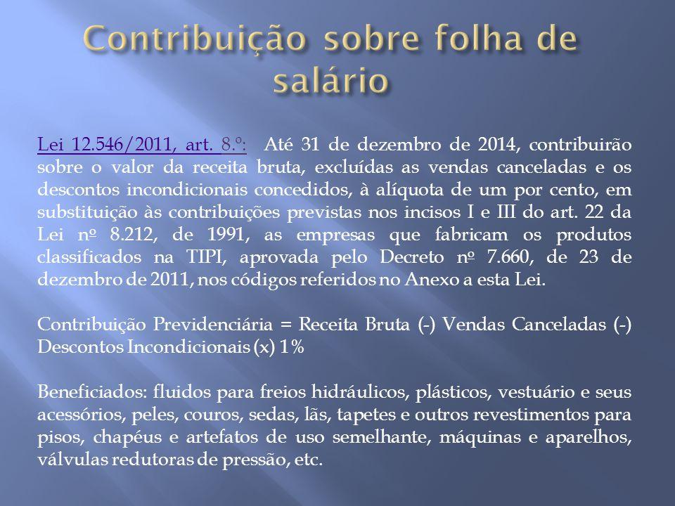 Contribuição sobre folha de salário