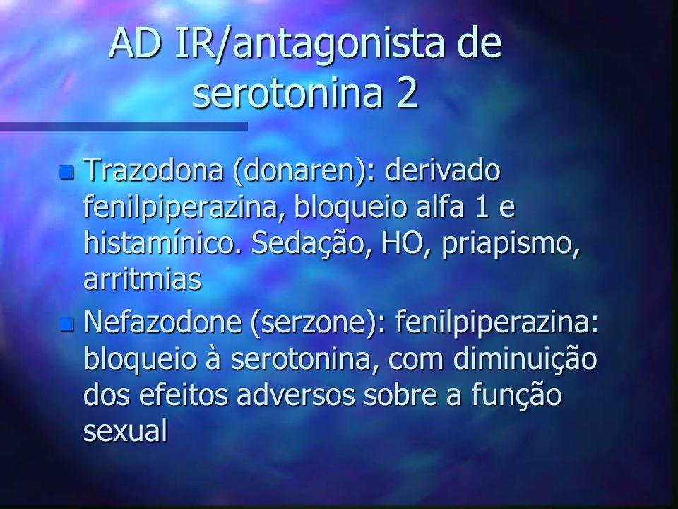AD IR/antagonista de serotonina 2