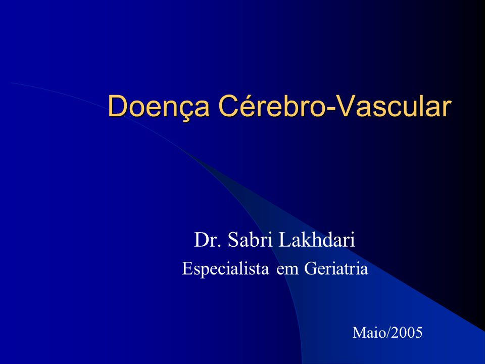 Doença Cérebro-Vascular