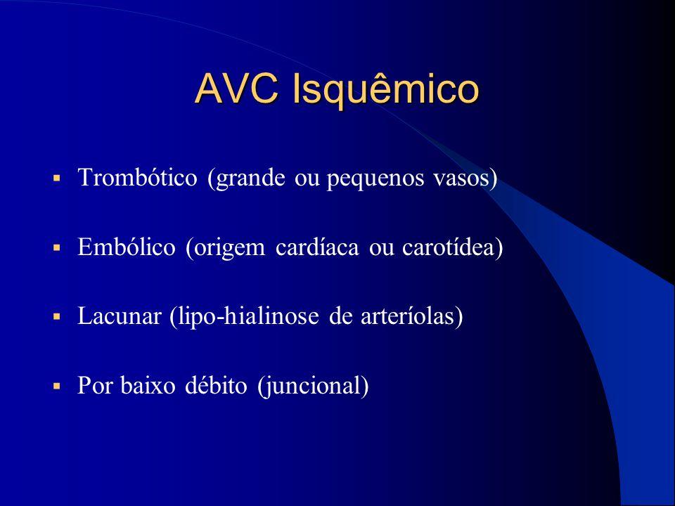 AVC Isquêmico Trombótico (grande ou pequenos vasos)