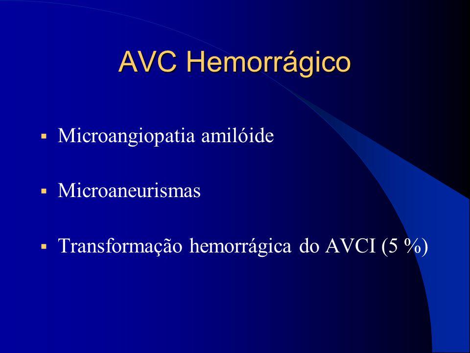 AVC Hemorrágico Microangiopatia amilóide Microaneurismas