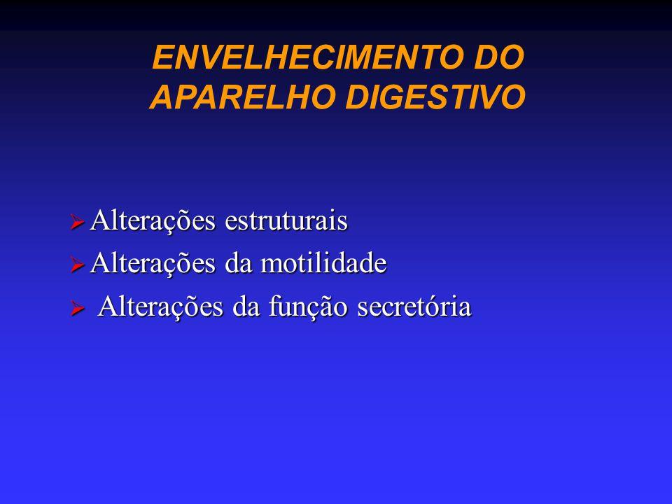 ENVELHECIMENTO DO APARELHO DIGESTIVO