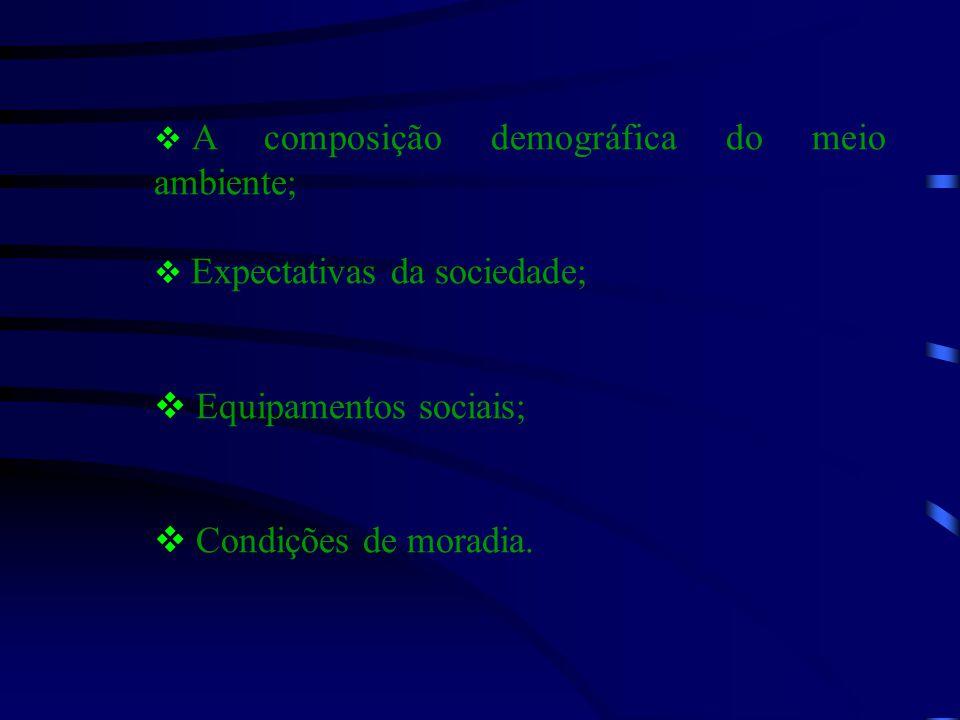 Equipamentos sociais;