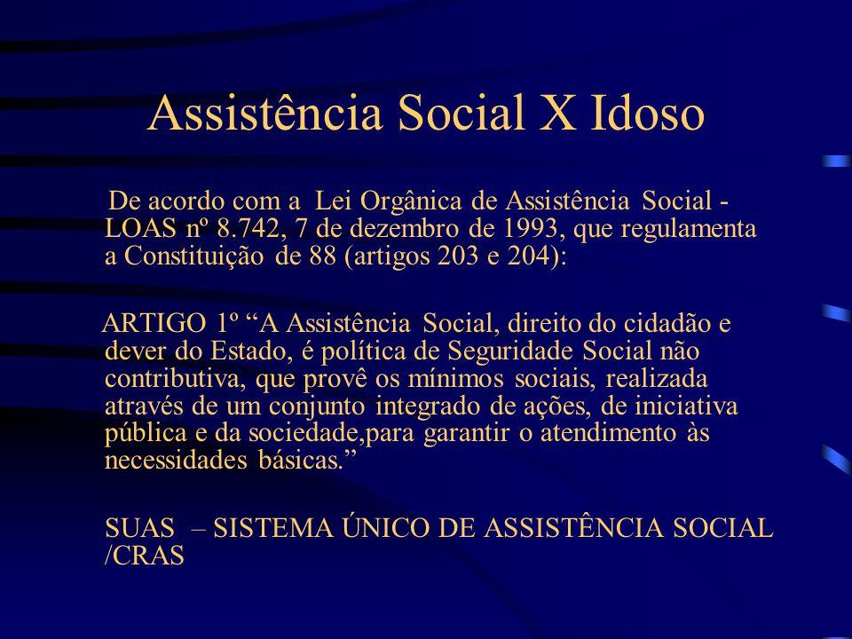 Assistência Social X Idoso