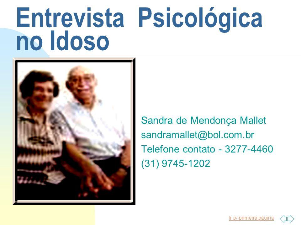 Entrevista Psicológica no Idoso