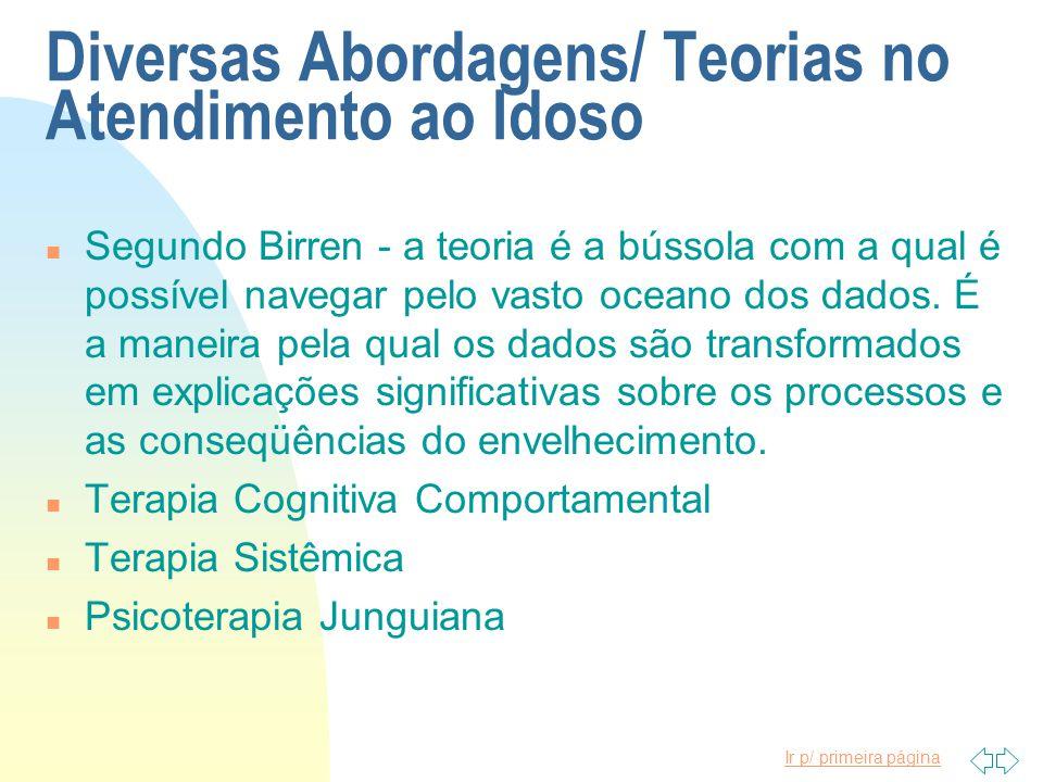 Diversas Abordagens/ Teorias no Atendimento ao Idoso