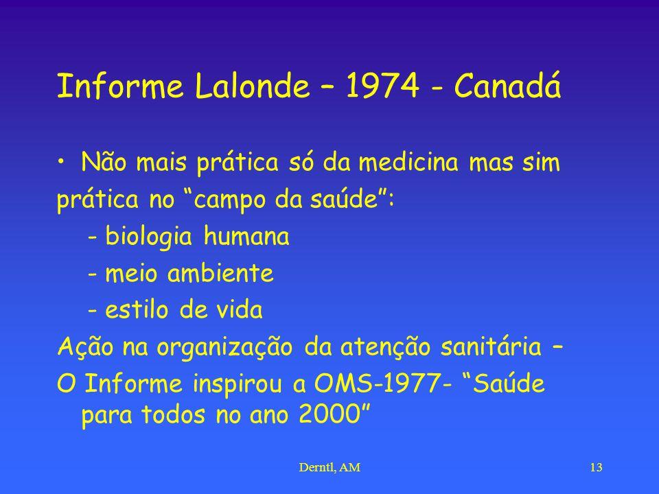 Informe Lalonde – 1974 - Canadá