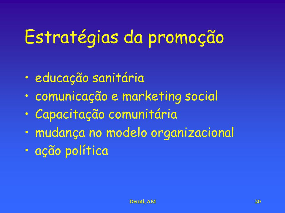 Estratégias da promoção
