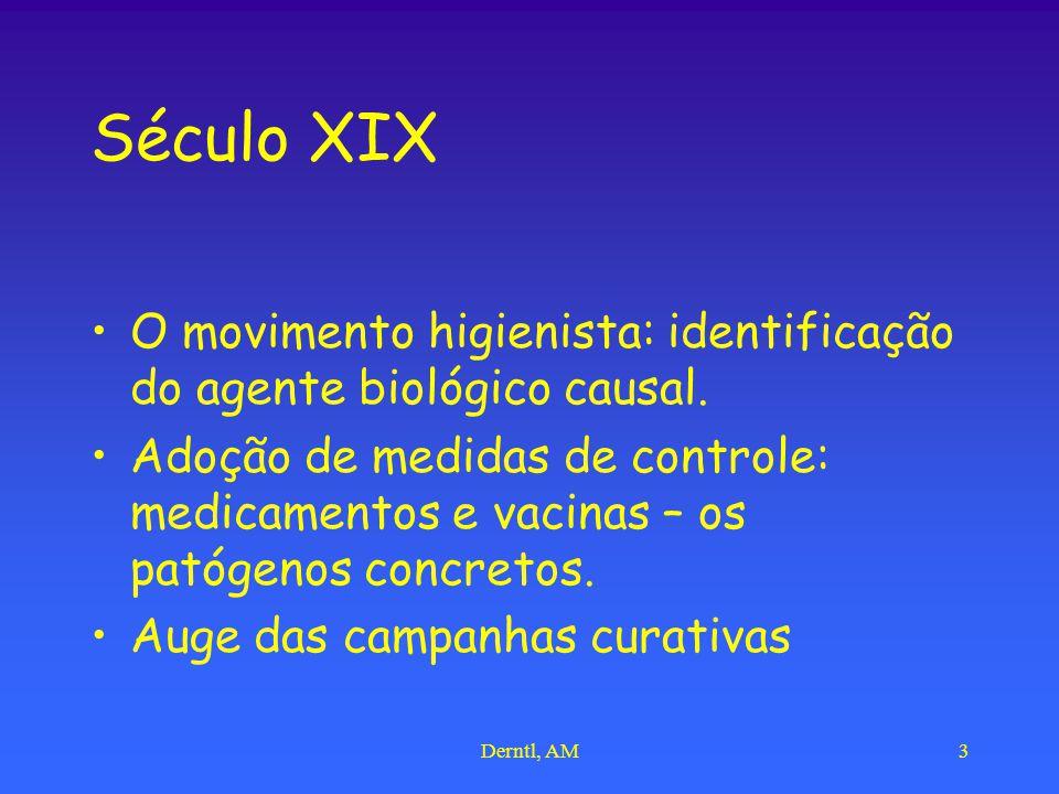 Século XIX O movimento higienista: identificação do agente biológico causal.