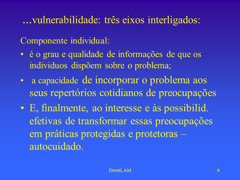 ...vulnerabilidade: três eixos interligados: