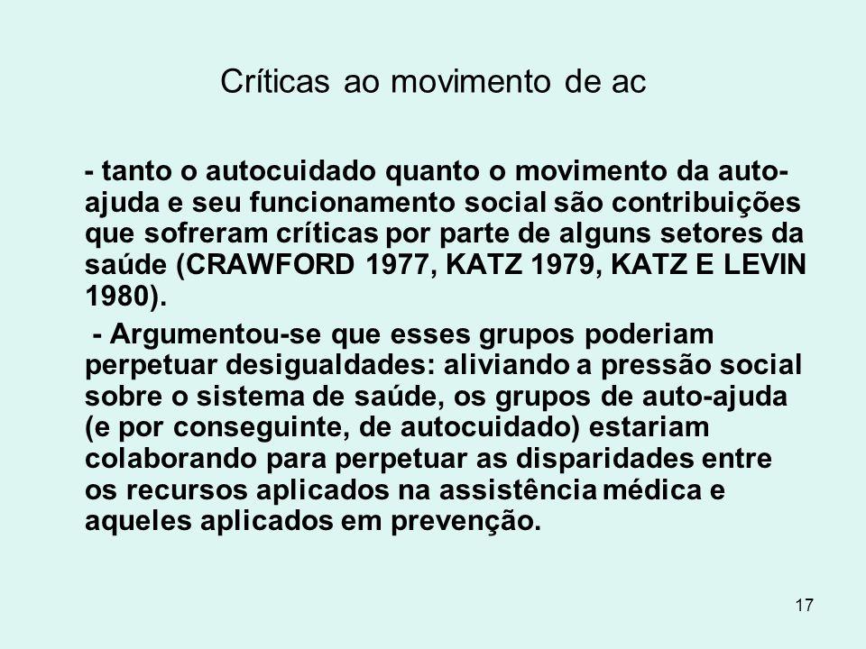 Críticas ao movimento de ac