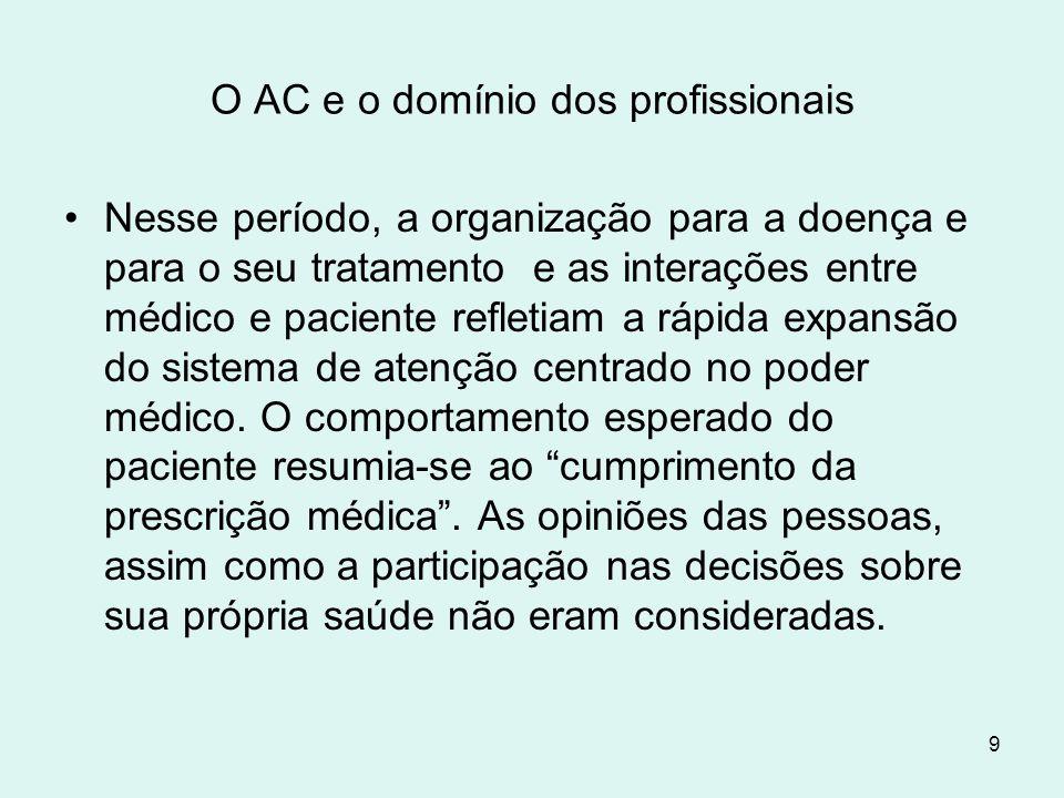 O AC e o domínio dos profissionais