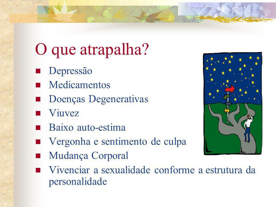 O que atrapalha Depressão Medicamentos Doenças Degenerativas Viuvez