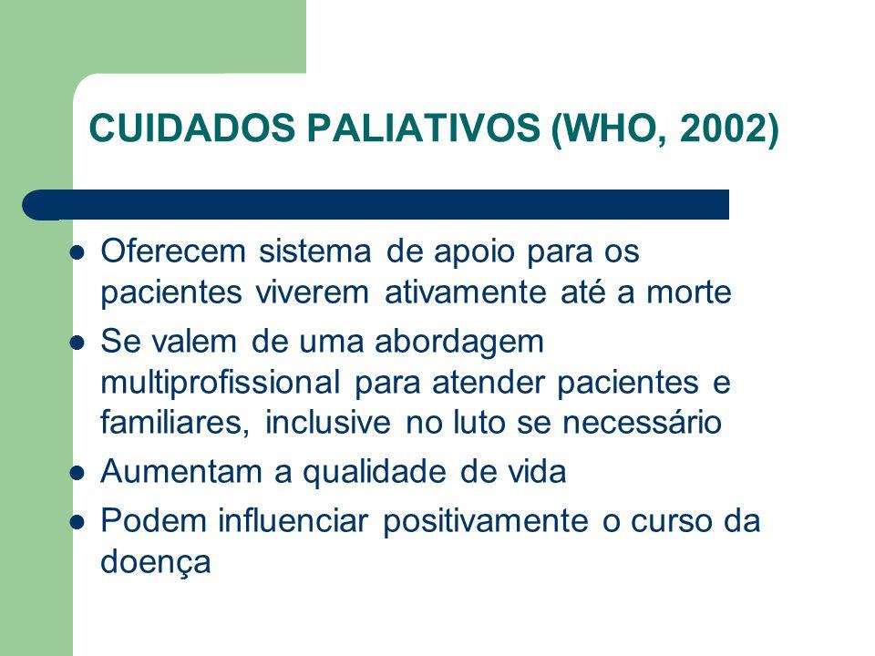 CUIDADOS PALIATIVOS (WHO, 2002)