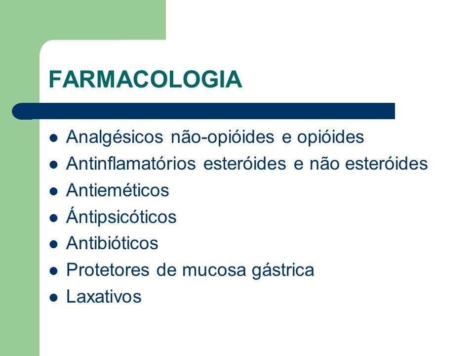 FARMACOLOGIA Analgésicos não-opióides e opióides