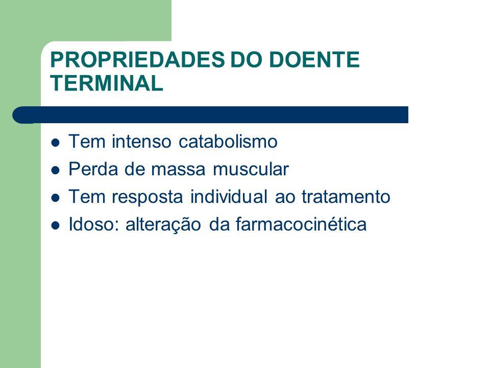 PROPRIEDADES DO DOENTE TERMINAL