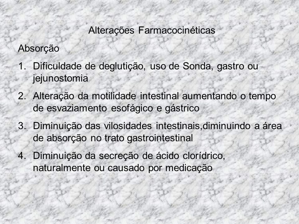 Alterações Farmacocinéticas