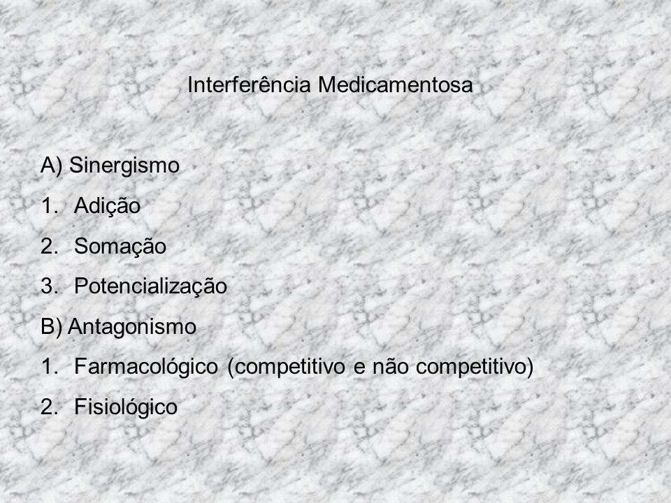 Interferência Medicamentosa